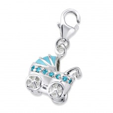 Baby Carriage - 925 Sterling Silver Charms with lobster A4S29851