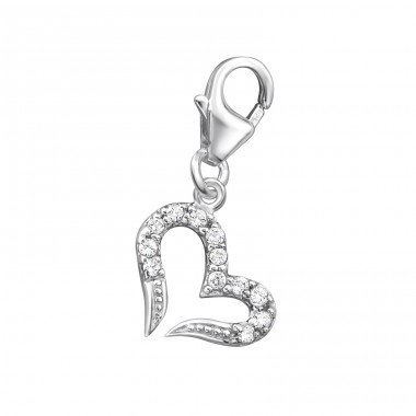 Heart - 925 Sterling Silver Charms with lobster A4S29857