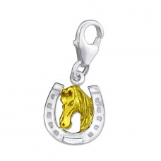 Horseshoe - 925 Sterling Silver Charms with lobster A4S29861