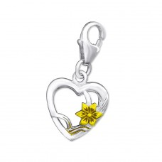 Heart - 925 Sterling Silver Charms with lobster A4S29862