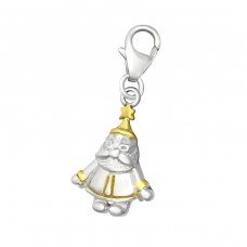 Santa Claus - 925 Sterling Silver Charms with lobster A4S29865