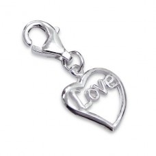 Heart - 925 Sterling Silver Charms with lobster A4S3021