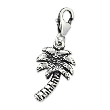 Palm Tree - 925 Sterling Silver Charms with lobster A4S30281