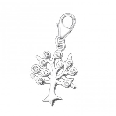 Tree Of Life - 925 Sterling Silver Charms with lobster A4S30694