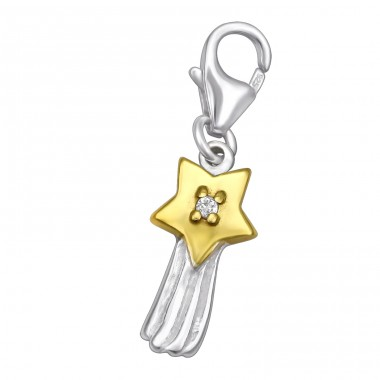 Shooting Star - 925 Sterling Silver Charms with lobster A4S31056