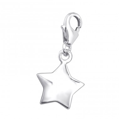 Star - 925 Sterling Silver Charms with lobster A4S3105