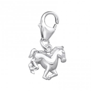 Horse - 925 Sterling Silver Charms with lobster A4S3115