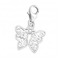 Butterfly - 925 Sterling Silver Charms with lobster A4S3147