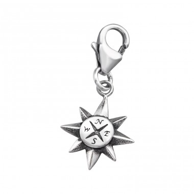 Compass - 925 Sterling Silver Charms with lobster A4S32104