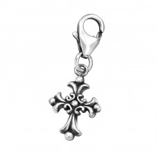 Gothic Cross - 925 Sterling Silver Charms with lobster A4S32105