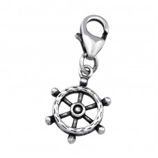 Ship's Wheel - 925 Sterling Silver Charms with lobster A4S32109