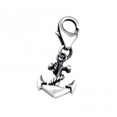 Anchor - 925 Sterling Silver Charms with lobster A4S32110