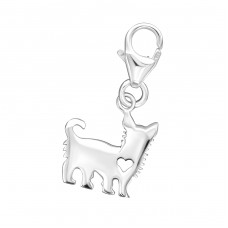 Dog - 925 Sterling Silver Charms with lobster A4S32118