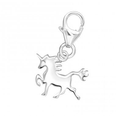 Unicorn  - 925 Sterling Silver Charms With Lobster A4S32119