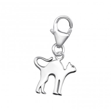 Cat - 925 Sterling Silver Charms With Lobster A4S32120