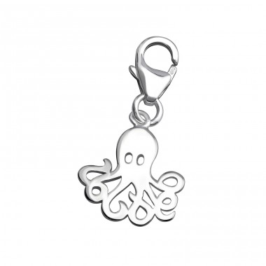 Octopus - 925 Sterling Silver Charms with lobster A4S32128