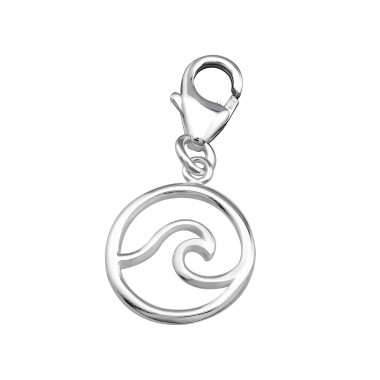 Wave - 925 Sterling Silver Charms with lobster A4S32131