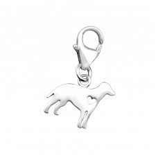 Dog - 925 Sterling Silver Charms with lobster A4S32133