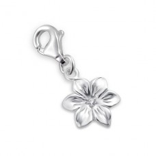 Flower - 925 Sterling Silver Charms with lobster A4S3213