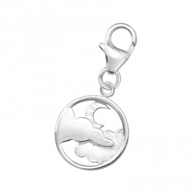 Night Sky - 925 Sterling Silver Charms with lobster A4S32184