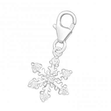 Snowflake - 925 Sterling Silver Charms with lobster A4S3337