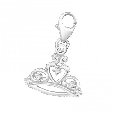 Crown - 925 Sterling Silver Charms with lobster A4S3338