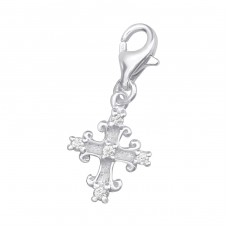 Cross - 925 Sterling Silver Charms with lobster A4S3546