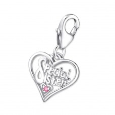Heart - 925 Sterling Silver Charms with lobster A4S35633