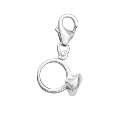 Ring - 925 Sterling Silver Charms with lobster A4S36432