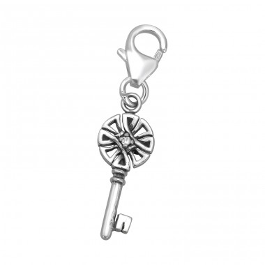 Key - 925 Sterling Silver Charms with lobster A4S39336