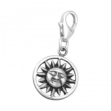 Sun - 925 Sterling Silver Charms with lobster A4S39337