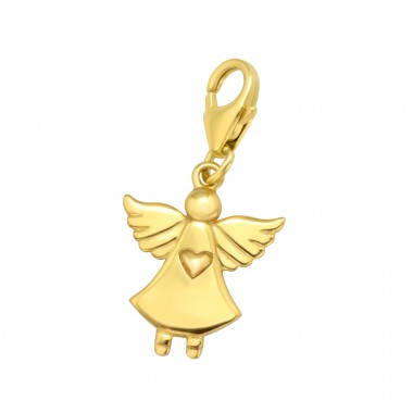 Golden angel - 925 Sterling Silver Charms With Lobster A4S42057