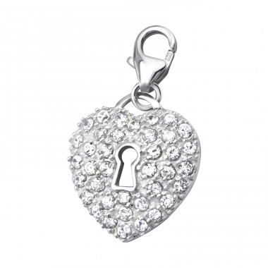 Heart - 925 Sterling Silver Charms with lobster A4S5086