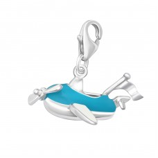 Plane - 925 Sterling Silver Charms with lobster A4S5925