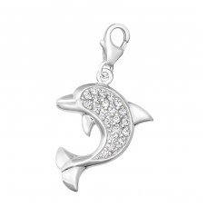 Dolphin - 925 Sterling Silver Charms with lobster A4S5964