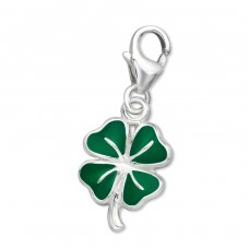Shamrock - 925 Sterling Silver Charms with lobster A4S5993