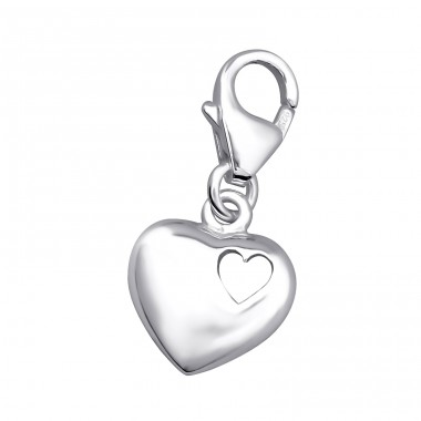 Heart - 925 Sterling Silver Charms with lobster A4S6657