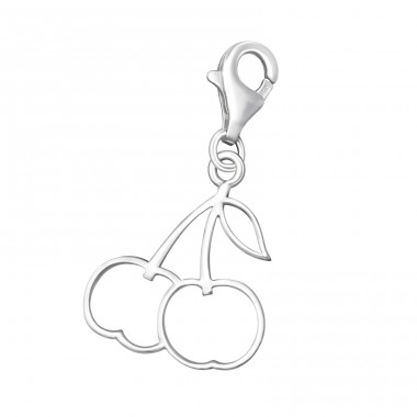Cherry - 925 Sterling Silver Charms with lobster A4S7045