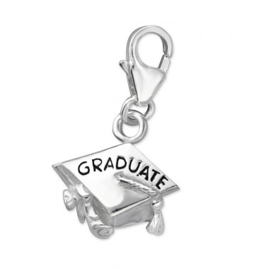 Graduate - 925 Sterling Silver Charms with lobster A4S7239