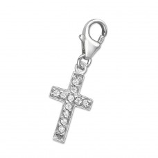 Cross - 925 Sterling Silver Charms with lobster A4S72
