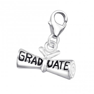 Graduate - 925 Sterling Silver Charms with lobster A4S7301