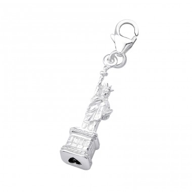 Statue Of Liberty - 925 Sterling Silver Charms with lobster A4S7307