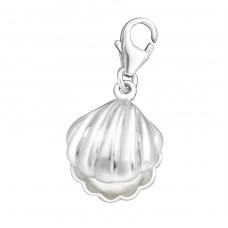 Pearl - 925 Sterling Silver Charms with lobster A4S7315
