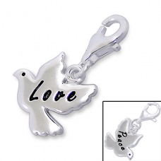 Bird - 925 Sterling Silver Charms with lobster A4S7324
