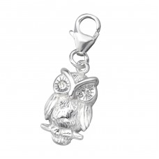 Owl - 925 Sterling Silver Charms with lobster A4S75