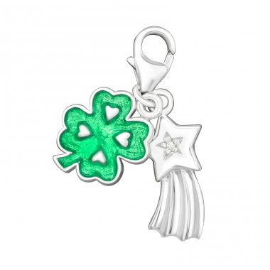 Shamrock - 925 Sterling Silver Charms with lobster A4S8075
