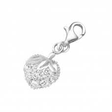 Strawberry - 925 Sterling Silver Charms with lobster A4S853