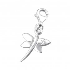 Dragonfly - 925 Sterling Silver Charms with lobster A4S867