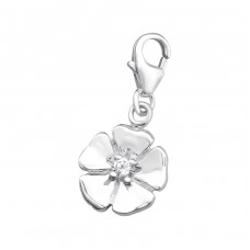Flower - 925 Sterling Silver Charms with lobster A4S873