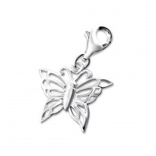 Butterfly - 925 Sterling Silver Charms with lobster A4S8